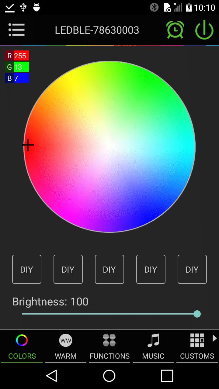 RGB pick - 255, 13, 7